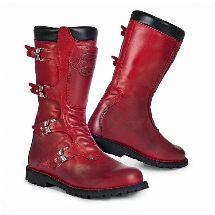 EU 42 Stylmartin Continental Stiefel Red Motorradschuhe Rot