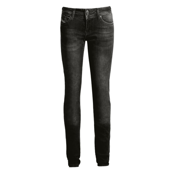 John Doe Betty XTM Vintage High Waist Black Damen Jeans Schwarz