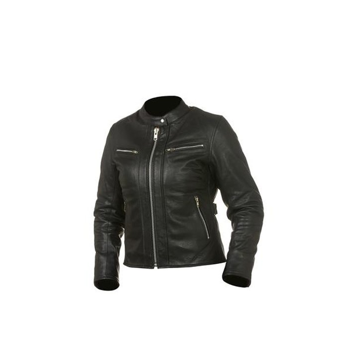 40 GC Bike Damen Lederjacke Virginia Schwarz