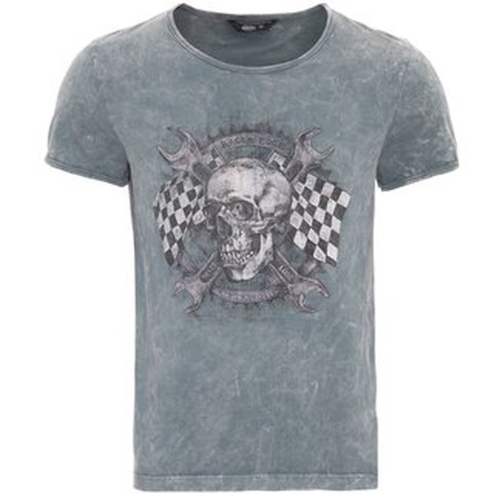 S King Kerosin Herren T Shirt Racer Edge Dark Grey