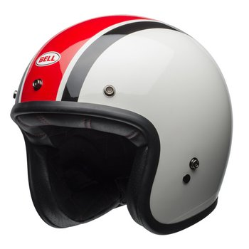 Bell Custom 500 LE ACE Stadium Silver Red Black Helm ECE...