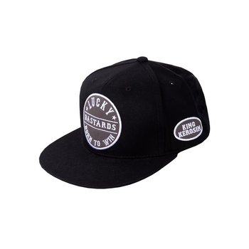 King Kerosin Snapback Cap Born to Win Black