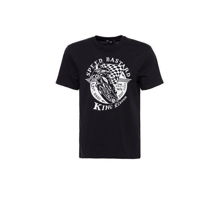 King Kerosin Herren T-Shirt Speed Bastard Schwarz