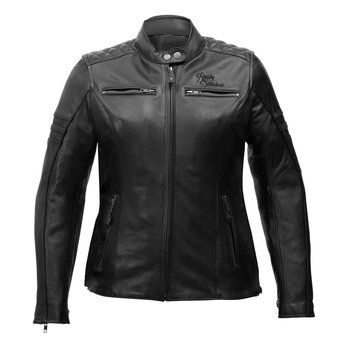 Rusty Stitches Ladies Leather Jacket Joyce Black