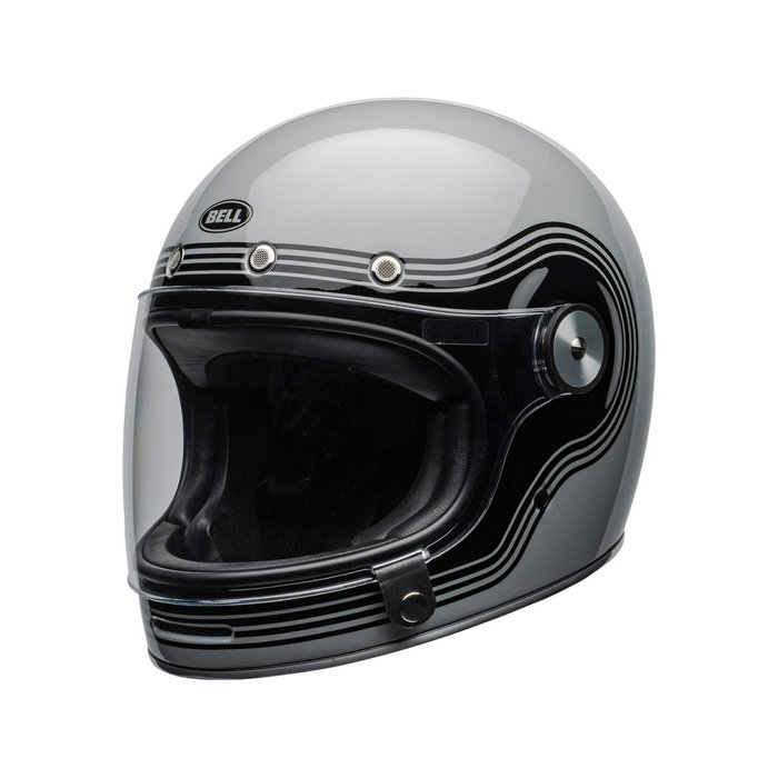 Bell Bullitt DLX Flow Gloss Grey Black Retro Integralhelm ECE 22.05