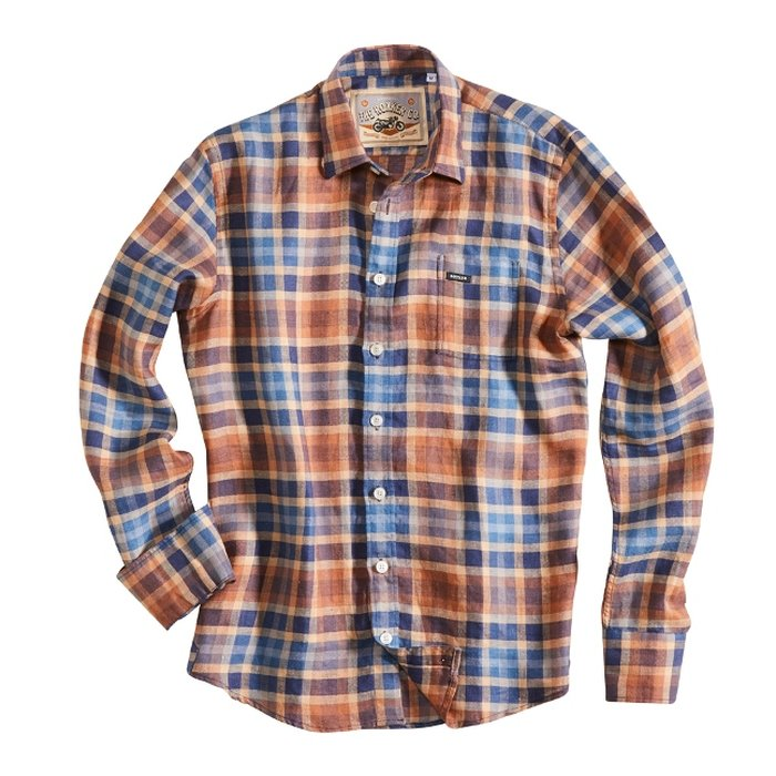 Rokker Austin Shirt Herren Hemd Red Blue Check