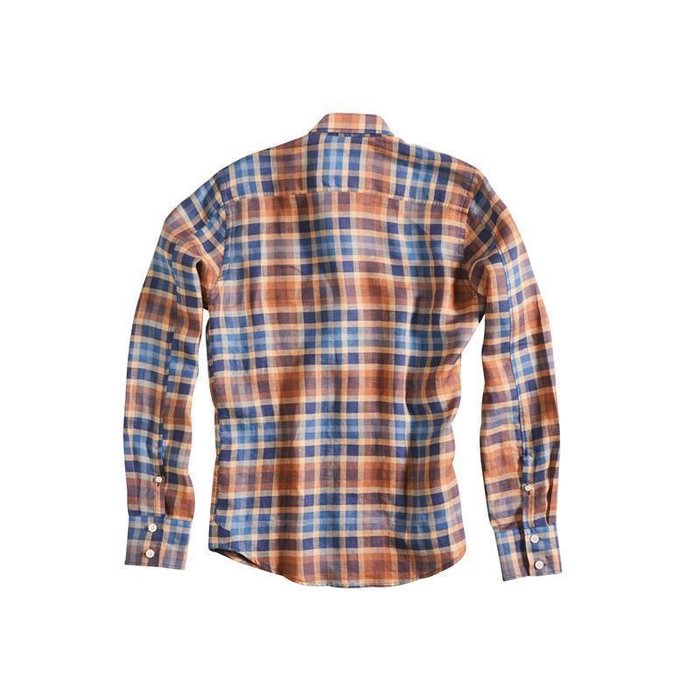 XL Rokker Austin Shirt Herren Hemd Red Blue Check