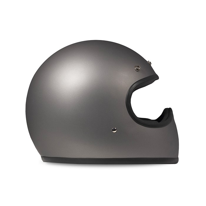DMD Racer Matt Grey Retro Cross Helm 2020 ECE 22.05